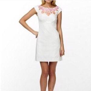 Lilly Pulitzer Allura Dress White Cap Sleeve Sz 12